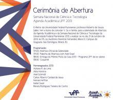 Convite de Abertura - Agenda Acadêmica UFF 2013