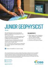 CGG Brazil | Junior Geophysicist